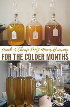 Quick & Cheap DIY Mead Brewing For The Colder Months — This is a really cool project. A few months ago I posted How To Make Mead (Honey Wine) and that went down really well, a lot of you commented how yummy and easy it is to make. Homemade Wine Recipes, Homemade Alcohol, Homemade Liquor, Beer Recipes, Alcohol Recipes, Homebrew Recipes, Tequila, Mead Wine, Mead Beer