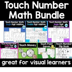 Use Touch Math to teach addition and subtraction to students with special needs. Touch point visuals are a great way to teach this skill! Help Teaching, Teaching Resources, Touch Math, Health Teacher, Counting Money, Money Games, Addition And Subtraction, Math Games, Special Education