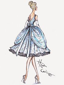#Hayden Williams Fashion Illustrations: Dress designed for Disney + Tumblr in honour of the Cinderella movie