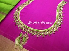 Cutwork Blouse Designs, Wedding Saree Blouse Designs, Pattu Saree Blouse Designs, Simple Blouse Designs, Blouse Neck Designs, Hand Embroidery Designs, Sleeve Designs, Embroidery Patterns, Mirror Work Blouse