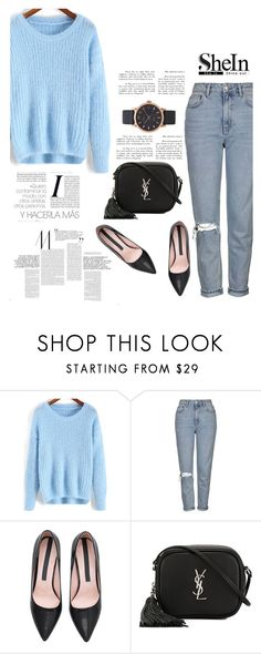 """""""Shein 10/10"""" by mell-2405 ❤ liked on Polyvore featuring Topshop, Yves Saint Laurent and Marc Jacobs"""