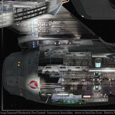 A cutaway view of the bow stardrive section and neck pylon of the refitted U. Star Trek Warp, Star Trek Ships, Star Trek Tos, Star Wars, Star Trek Enterprise, Star Trek Voyager, Uss Enterprise Ncc 1701, Scotty Star Trek, Star Trek Wallpaper