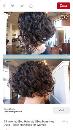 28 Cute Short Hairstyles Ideas | hair | Pinterest | Curly stacked ...