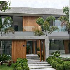 49 most popular modern dream house exterior design ideas 2 Contemporary House Plans, Modern House Plans, Modern Houses, Contemporary Design, Modern House Facades, Minimalist House Design, Modern House Design, Modern Architecture House, Architecture Design