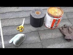 How to repair a leaky asphalt shingle roof - YouTube