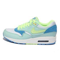 Nike Air Max 1 Julep Liquid Lime Coast White Women\u0026#39;s Sneakers . nice womens sport shoes cheap sale.