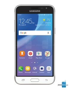 I have this phone right now! Cheaper version of the Galaxy S7 or Note 5. Also is called the J3 on Cricket Wireless. Great service, sometimes get 4G, but overall AT&T towers are great to me!