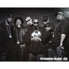 "Limited edition Strange Music artists poster - 18"" x 24""    Brotha Lynch Hung  Krizz Kaliko  Cognito  Tech N9ne  Kutt Calhoun  Big Scoob"