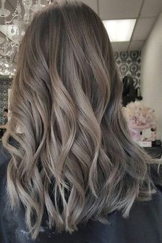 Greige Hair Is Trending And You Ll Actually Want To Try This Cool Neutral Hair Styles Ash Brown Hair Color Light Ash Brown Hair