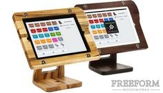 The Freeform Stand: A Wooden iPad Stand for Square Register by MW Townsend —Kickstarter