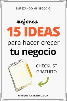 CHECKLIST GRATUITO: La lista con mis mejores 15 ideas para lanzar con éxito un negocio creativo #artesanía #negocio #emprendimiento #etsyseller