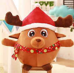 Christmas Decoration Christmas Tree Decorations Santa Claus Elk Plush Toys Baby Doll Valentine Girl 78inch elk ** Details can be found by clicking on the image.