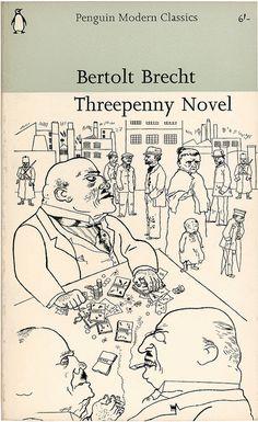 """""""Threepenny Novel""""  Bertolt Brecht  1967 - Drawing - George Grosz"""