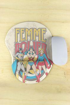 Mousepad Com Descanso de Mão DC Comics Modelo Power Girls Femme Power