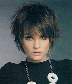 """Short Messy Hairstyles More [ """"Cute Sassy Quick Haircuts Haircuts - 2016 Hair - Hairstyle ideas and Trends"""", """"Good style if you have fine hair - just remember to use finishing product so your hair doesn Short Sassy Haircuts, Cute Hairstyles For Short Hair, Layered Haircuts, Pretty Hairstyles, Hairstyle Ideas, Bun Hairstyle, Pixie Haircuts, Celebrity Short Haircuts, Club Hairstyles"""