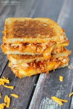 BBQ Chicken and Pineapple Grilled Cheese