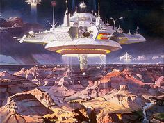 another floating city by Robert McCall