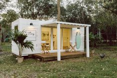 Shipping Container She Sheds and Man Caves - Discover Containers Shipping Container Sheds, Container House Plans, Container House Design, Tiny House Design, Shipping Containers, Shipping Container Buildings, Modern Tiny House, Tiny House Living, Tiny Studio