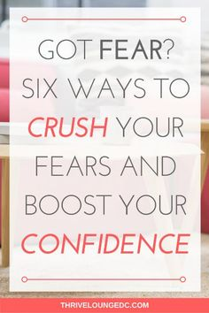 Got Fear? Six Ways to Crush Your Fears and Boost Your Confidence Postpartum Depression Causes, Depression Support, Beating Depression, Self Confidence Tips, Confidence Coaching, Confidence Boosters, Getting Over Depression, Fear Of Being Alone