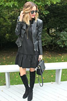 all black monochrome outfit