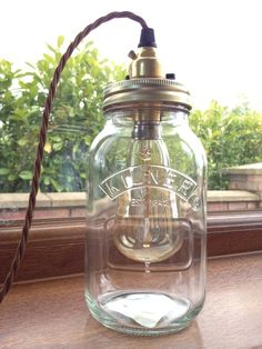 JAR TABLE LAMP RETRO/STEAMPUNK with vintage edison bulb in Home, Furniture & DIY, Lighting, Lamps | eBay