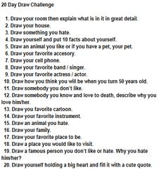 Draw Challenge @Annalise Hunnicutt  want to do this with me in December, maybe? :)