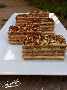 Letti szelet - Nassolda Russian Cakes, Tiramisu, Sweet Recipes, Dessert Recipes, Food And Drink, Yummy Food, Sweets, Bread, Meals