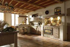 Cucina in muratura country