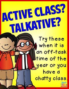 Do you have a talkative class? There are many things I have tried through the years to help when I get a chatty class. This is one of the strategies that seemed to help! link to paid.