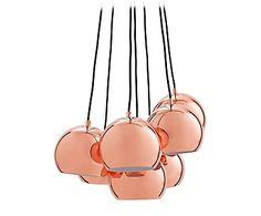 Hanglamp Multi Ball, koper, Ø 18 cm