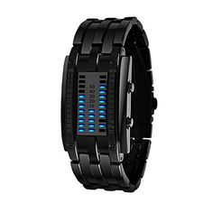 Colorworld Binary LED Technological Sense Waterproof Wrist Watches womens black watch *** Continue to the product at the image link.Note:It is affiliate link to Amazon.