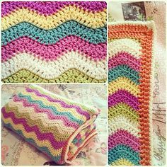 colors.......Ravelry: Bryonytofton's Ripple Single Blanket