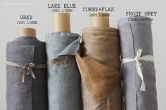 LAKE BLUE Linen Fabric