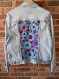Upcycled hand painted denim jacket by DenimAndDyeWorks on Etsy