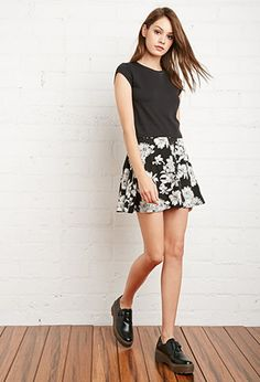 Button-Front Floral Skirt | Forever 21 - 2000141572