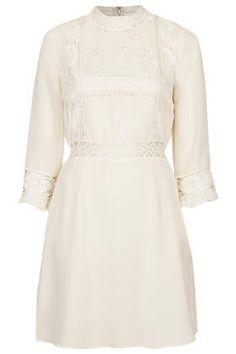 Victorina Lace Detail Dress, topshop - $90