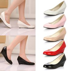 55ef5cce5d03d Fashion Women Ladies Low Kitten Heels Office Shoes Comfort Point-Toe Pumps  3Type