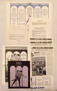 1968 Romeo And Juliet Movie Pressbook Press Kit Leonard Whiting Olivia Hussey    eBay
