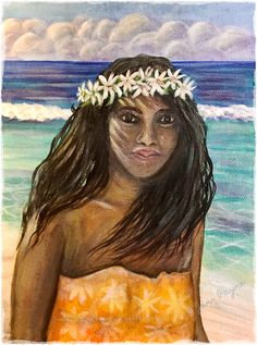 Acrylic on Paper painted in Huahine, Tahiti, 2019.