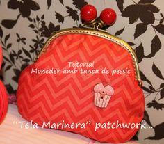 """""""TELA MARINERA"""", patchwork ...: Tutorial MONEDER amb TANCA de PESSIC."""