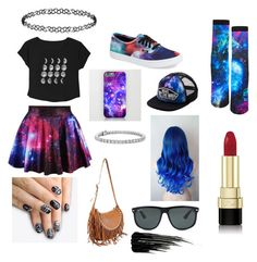 """galaxy"" by annietiger3 ❤ liked on Polyvore featuring Vans, Ray-Ban, Valentino, alfa.K, Urban Decay, Blue Nile, Dorothy Perkins and Dolce&Gabbana"