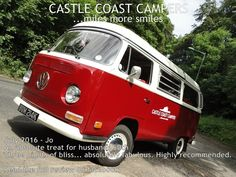 Miss Scarlett is now 50% booked for Summer 2017, so if you were wanting a school holiday getaway in our gorgeous red Glampervan you need to get your finger out!  £150 deposit secures your happy holiday for 2017 at the 2016 price! Email us NOW!   hello@castlecoastcampers.co.uk  #Campervan #VW #Vintage #Schoolholidays #Summer2017 #family #getaway #holiday #shortbreak #weekendaway #escape #fun #CampervanHire #CamperHire #glamping