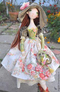 Коллекционные куклы ручной работы. Ярмарка Мастеров - ручная работа Авторская кукла Флора. Handmade.