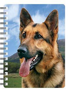 Ideal Christmas stocking filler German Shepherd 3D Notebook