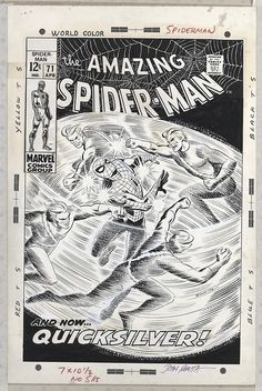 The cover to Amazing Spider-Man #71 by John Romita.