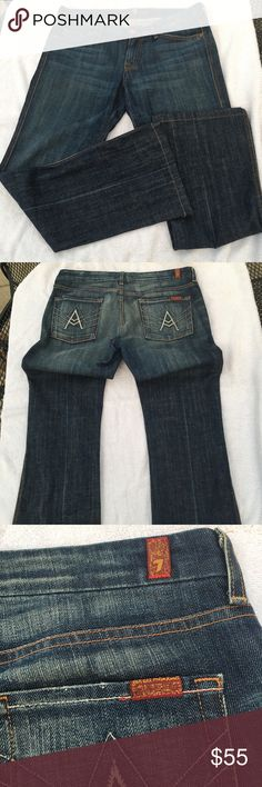 7 For All Mankind Jeans Size 30 7 for all mankind Jeans Size 30. Feel free to ask any questions. :) 7 For All Mankind Jeans Flare & Wide Leg