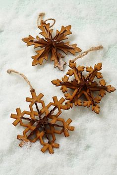 Carved Snowflake Ornament | Anthropologie