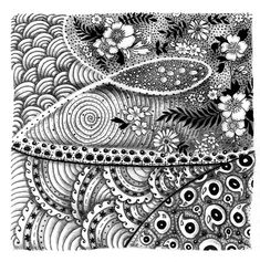 Free Zentangle How To Patterns | First Zentangle | Melissa Brunet's illustration  graphic design blog