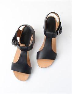 simple black sandals