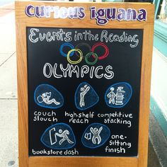 The reading Olympics...I would score gold!